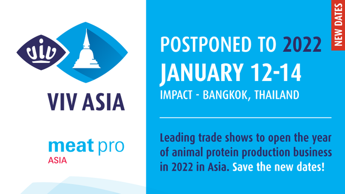 VIV Asia postponed to January 2022